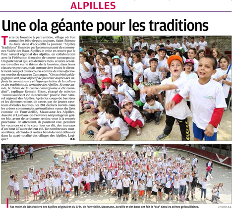 article 30 juin Alpilles Traditions 2013